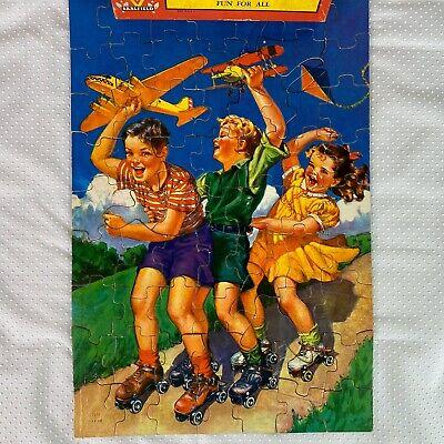 Vintage Saalfield Junior Jigsaw Puzzle Large Interlocking 67 Pieces Complete USA