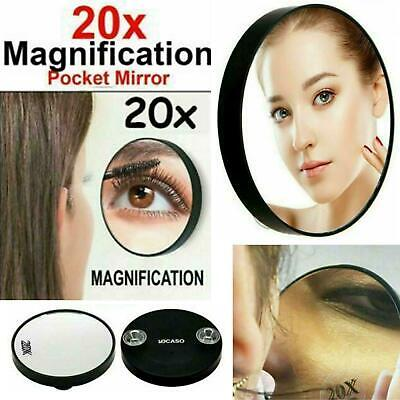 Pocket Mirror 20x Magnifying Makeup Vanity Cosmetic Compact Travel Small Mirrors