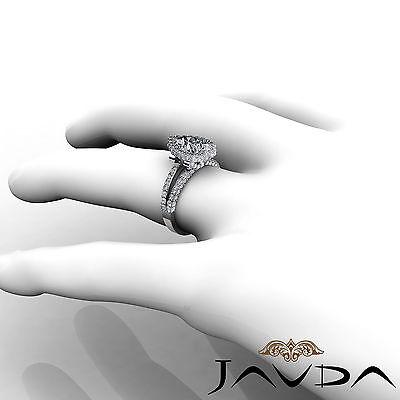 Bridge Accent Halo Pave Bezel Set Pear Diamond Engagement Ring GIA H SI1 2.52Ct 4