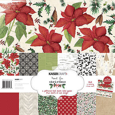 KaiserCraft Home for Christmas Xmas 12x12 Christmas Paper Pack