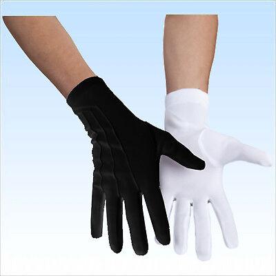 Handschuhe für Herren Weiß oder Schwarz für Partys Kostüme Fasching - Weiße Oder Schwarze Kostüm Handschuhe