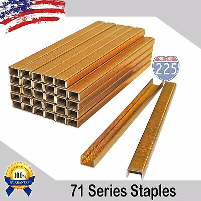 10000 71 Series Galvanized 22ga Gauge Upholstery Staples 38 Crown 14 Length