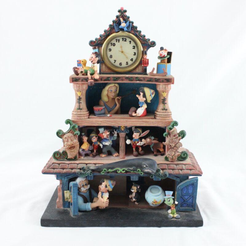 "RARE Disney Magic Moments in Time PINOCCHIO Musical Clock 11"" Broken Pieces"