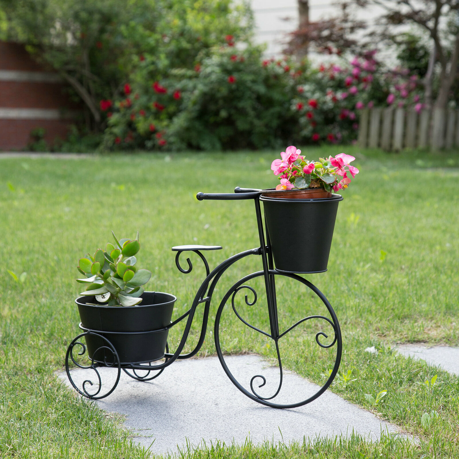 Bicycle Home Decor: Glitzhome Outdoor Indoor Mini Garden Bicycle Planter Home