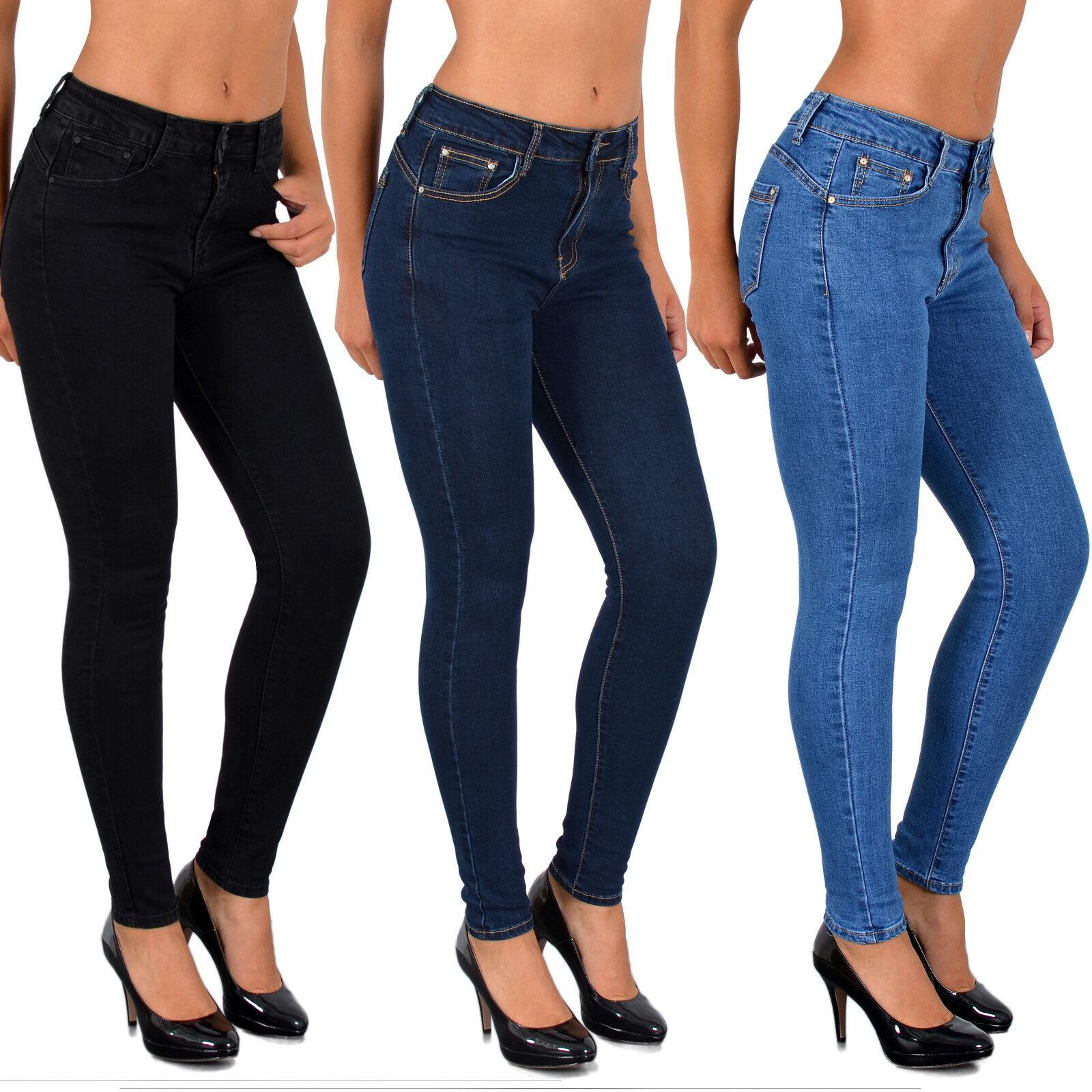 Damen Skinny Jeans Hose Push up Effekt Jeans Shape Jeans Hose - S900