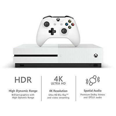 NEW Microsoft Xbox One S 1TB Console Gaming Bundle w/ Controller + Game Pass