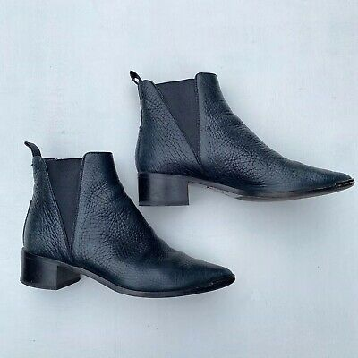 ACNE STUDIOS BLACK JENSEN LEATHER ANKLE Chelsea BOOTS SIZE 36 Original $560