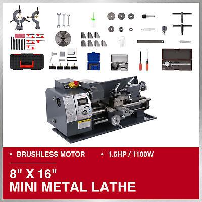 Mini Metal Lathe 8 16 Bench Top 1.5hp Digital Readout Metal Gear 9 Tools