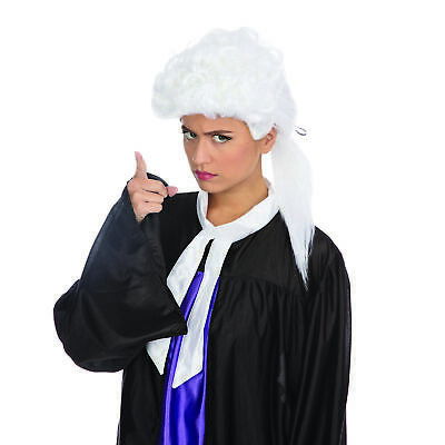Lady Justice Halloween Costume (Judge Wig Barrister Lawyer Court Fancy Dress Costume White Mens Ladies)