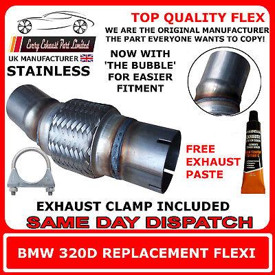 BMW 320D Exhaust Flexi Flex Easy Repair DPF, Cat Pipe, Catalyst Stainless