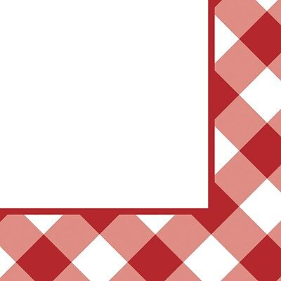 Gingham Beverage Napkins Summer Party BBQ Decoration Party Supplies (Bbq Party)