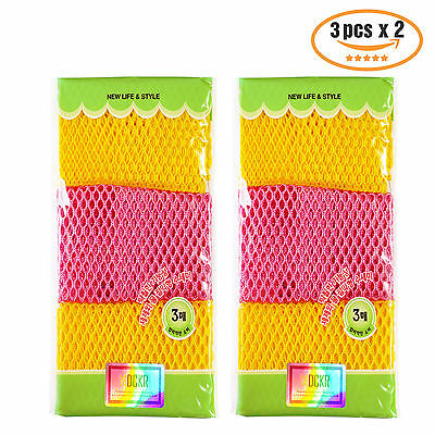 Kitchen Scrubbing Dish Cloth 6P Multipurpose Mesh Washing Korea Tool w Tracking