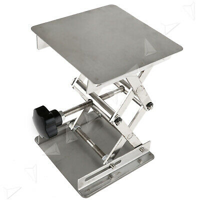 Stainless Steel Lab Stand Table Scissor Lift Laboratory Jiffy Jack 100100mm Us