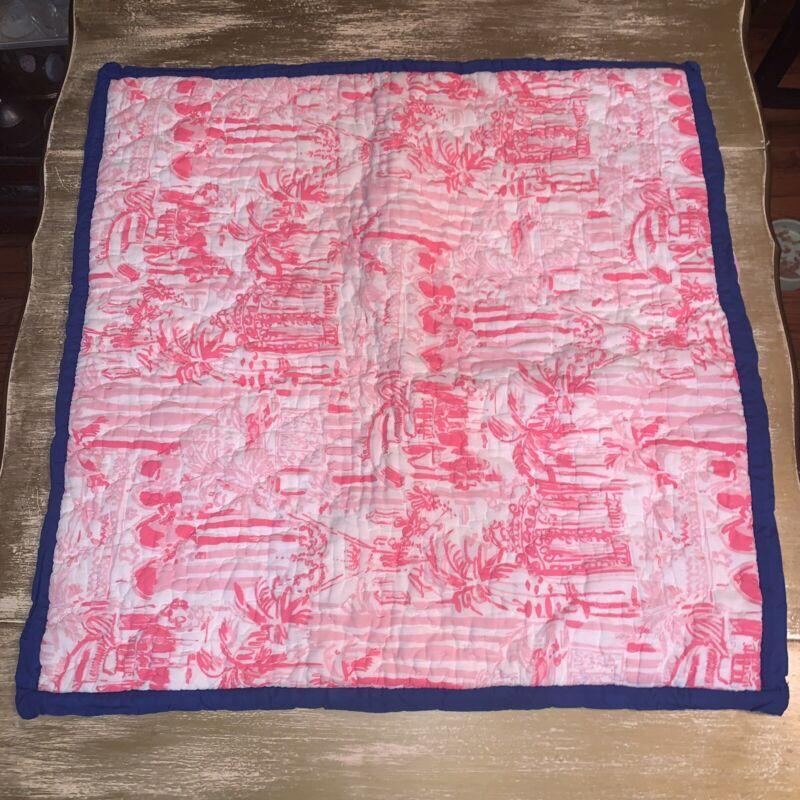 Lilly Pulitzer Pottery Barn Euro Sham Pink Vibrant 26x26