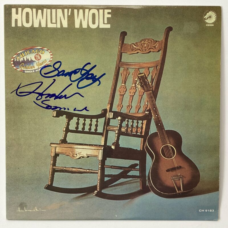 """HOWLIN WOLF HUBERT SUMLIN Autograph Signed """"Chicago Golden Years"""" Album Record L"""