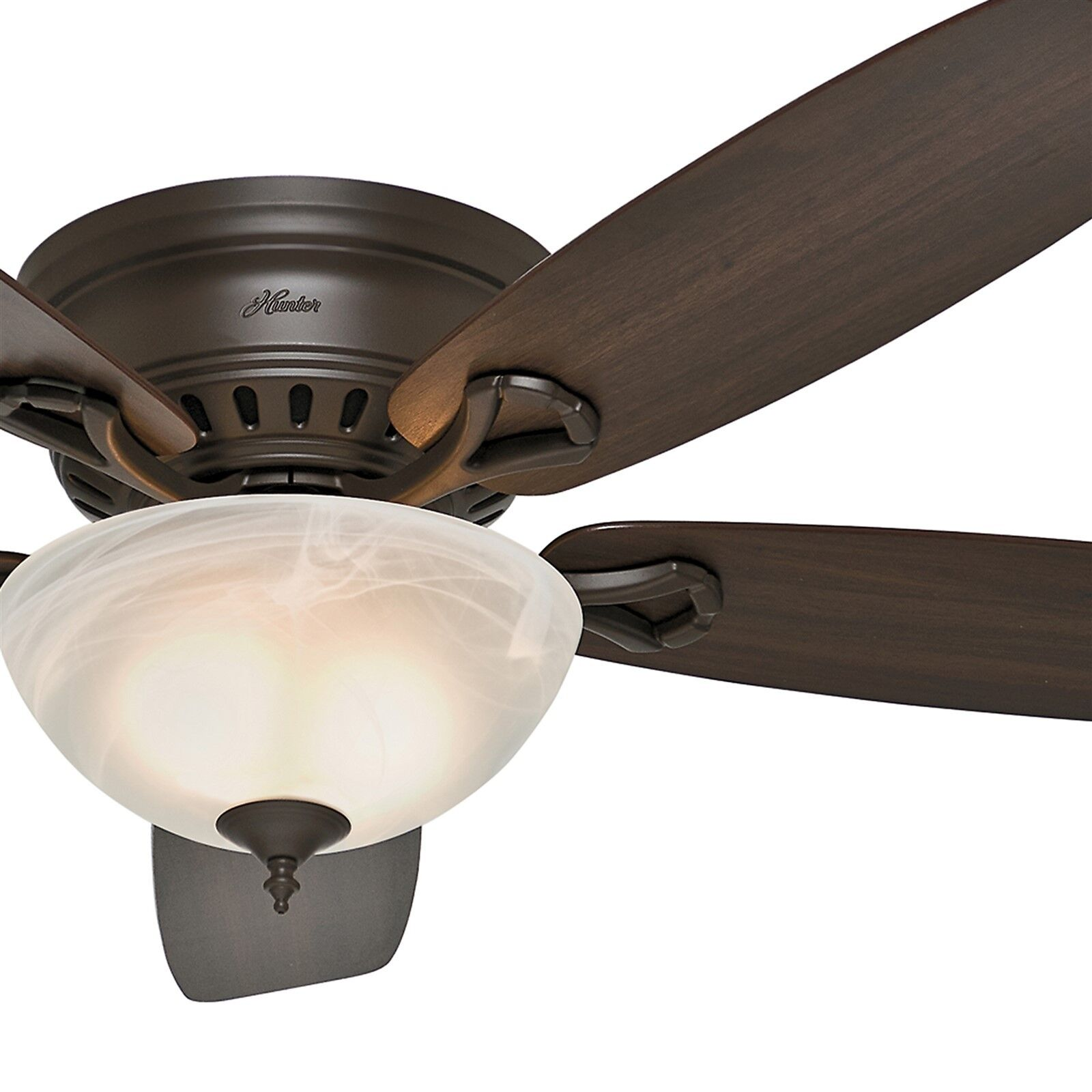 Hunter Fan 52 In Low Profile Ceiling Fan In New Bronze