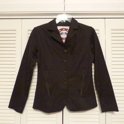 Equine Couture Addison Black English Show Coat sz Small