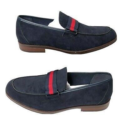 NEW Reserved Footwear Mens Striped Slip On Loafer Shoes Navy Red Size 8, używany na sprzedaż  Wysyłka do Poland