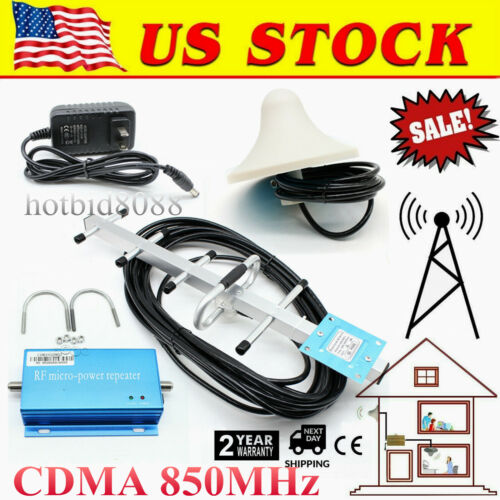 CDMA 850MHz Cell Phone Signal 3G 4G Repeater Booster Amplifi