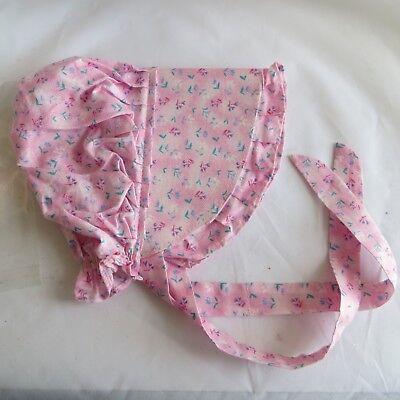 Baby Toddler Pink Pilgrim Puritan Bonnet Frontier Costume Hat handmade  - Infant Pilgrim Costume