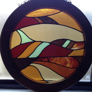 Abstract Round Stained Glass Window