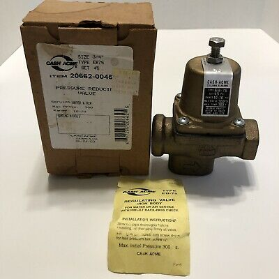 Cash Acme 23000-0045 Eb75 34 Set 45 Water Air Pressure Reducing Valve