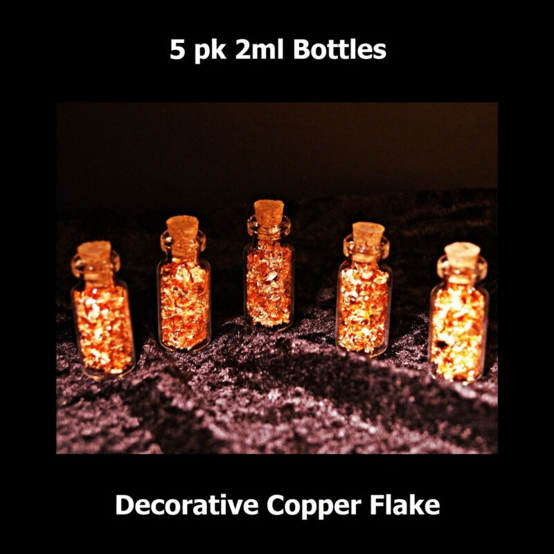 2ml Corked Bottles of Copper Flake - 5 pcs