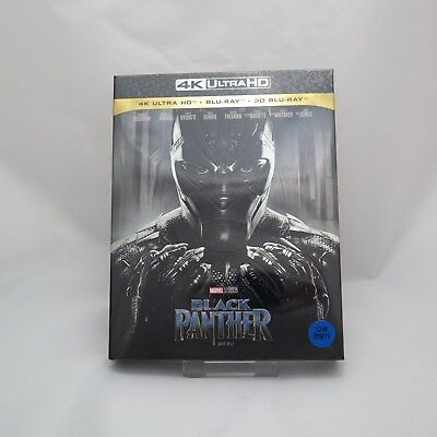Black Panther (2018, Blu-ray & 4k) Full Slip Case Steelbook / 2D + 3D Combo