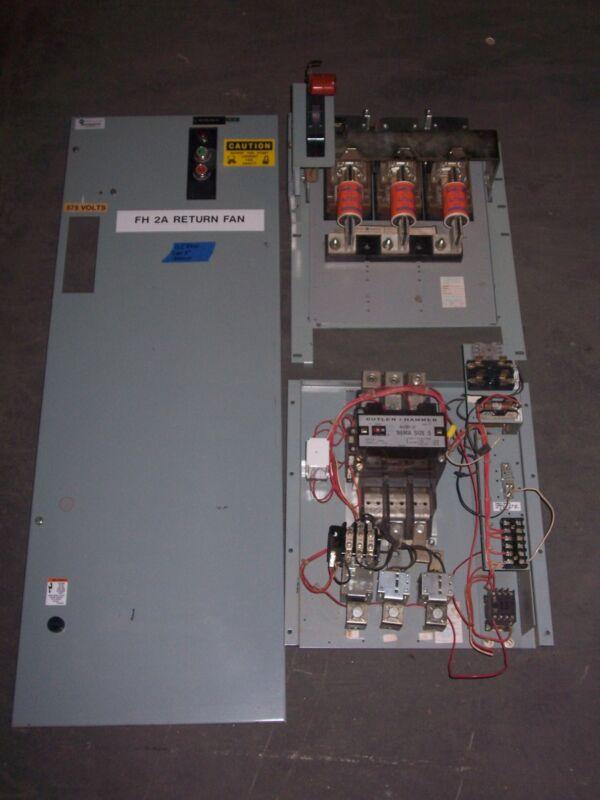 CUTLER HAMMER 2100 SIZE 5 MOTOR STARTER 300 AMP FUSIBLE FUSED MCC MCCB BUCKET