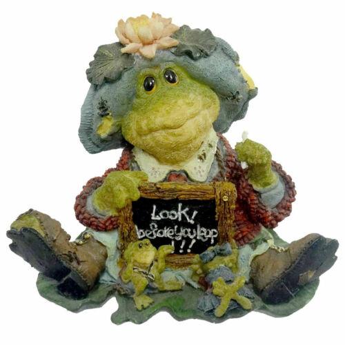 Ms. Lilypond... Lesson #1-Boyds Bears Resin Frog #36705 NIB