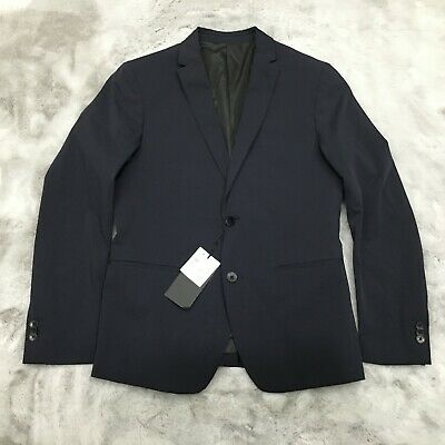 New Zara Man Polyester Blend Heavy Sport Coat Blazer Suit Jacket USA Size 42