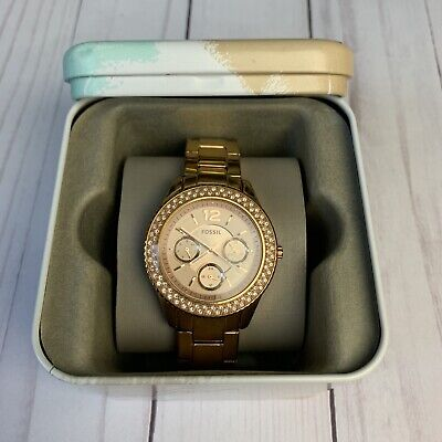Fossil Rose Gold Womens Watch, 111710, 5ATM