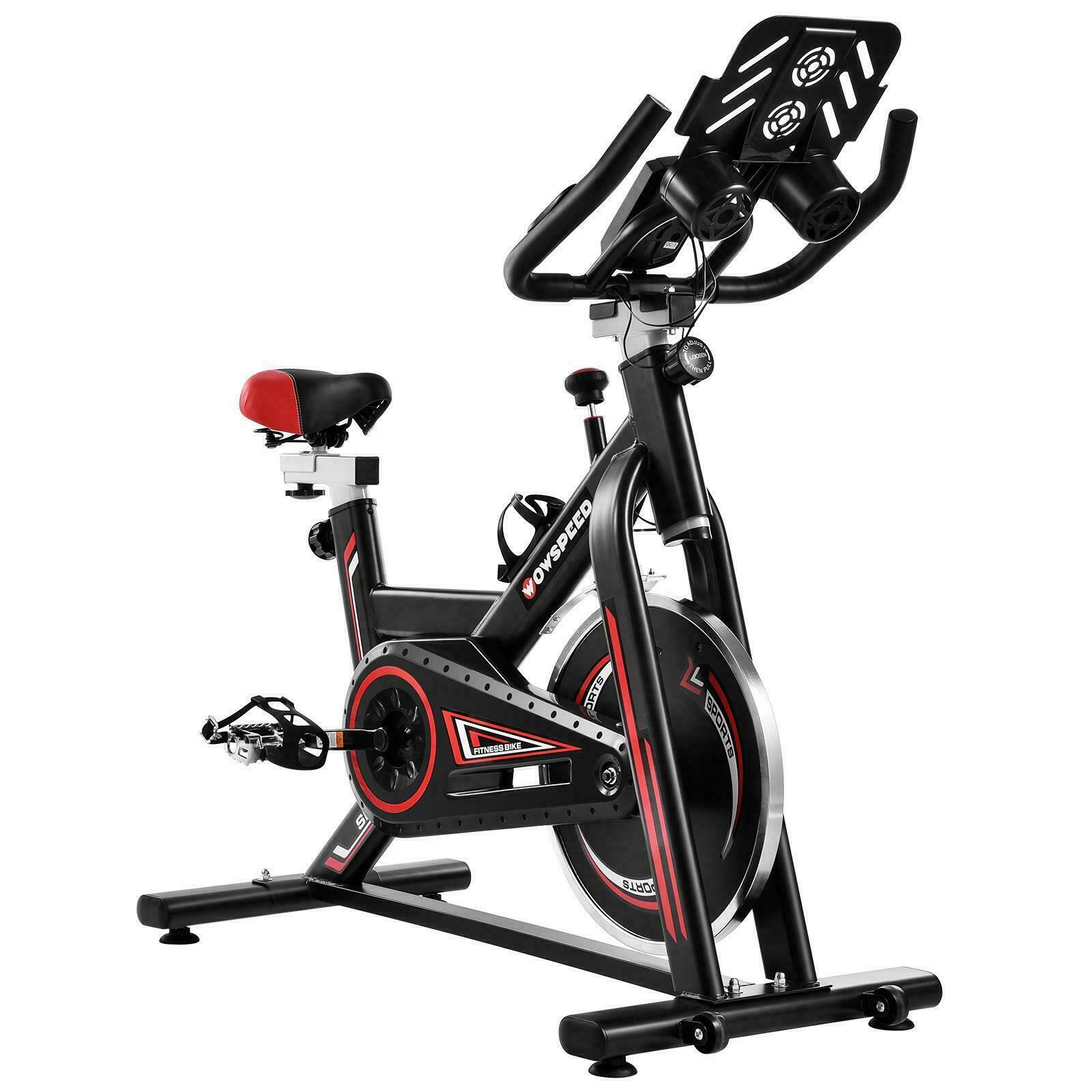 Stationary Exercise Bike Indoor Cycling Bicycle Cardio Fitne