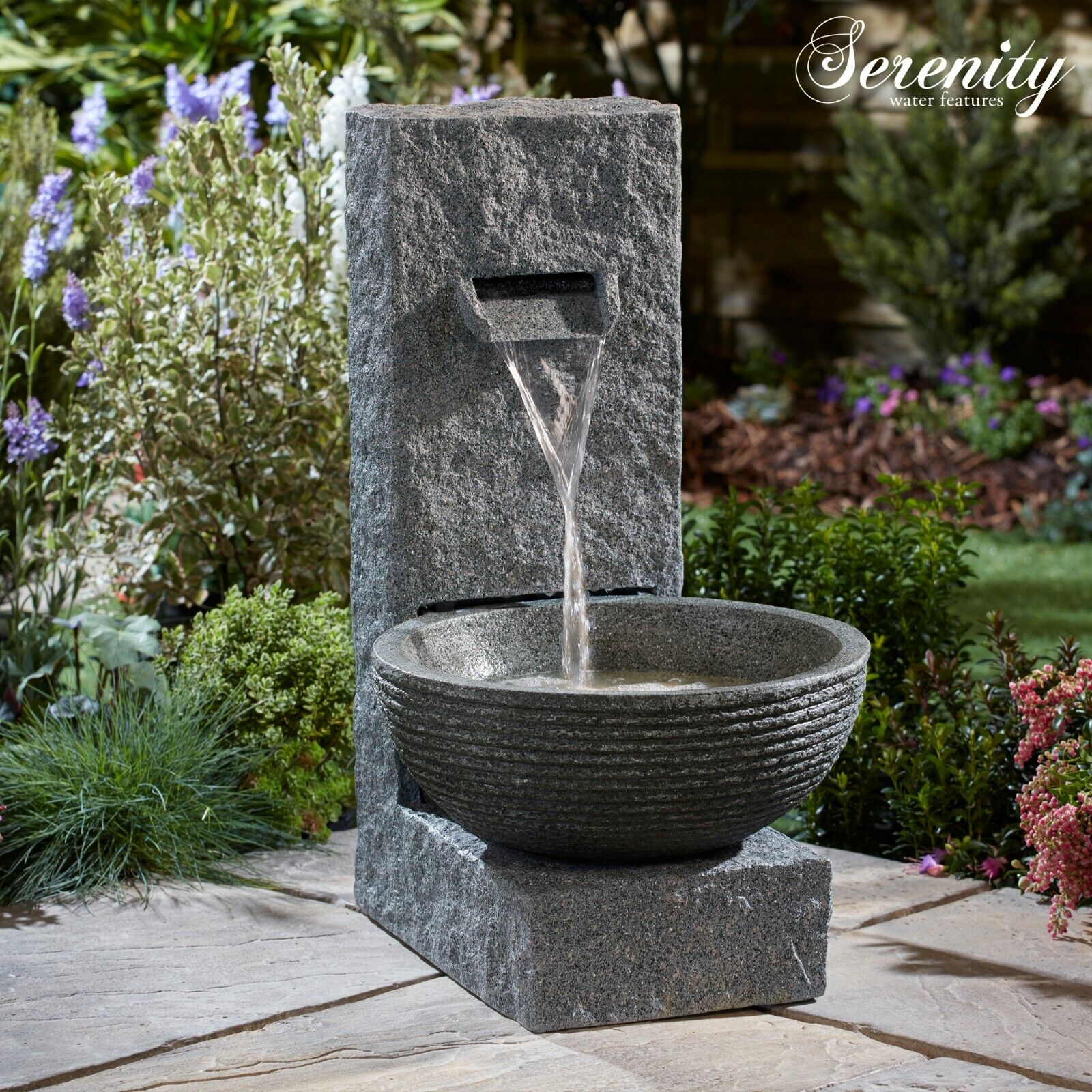 Details About Serenity Cascade Bowl Water Feature Led 71cm Garden Patio Fountain Ornament New