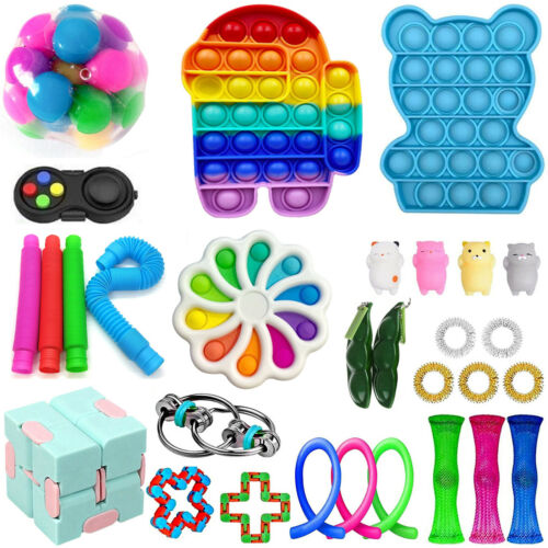 30PCS Fidget Toy Set Cheap Fidget Pack for Kid Adults Dimple Toy Stress Relief