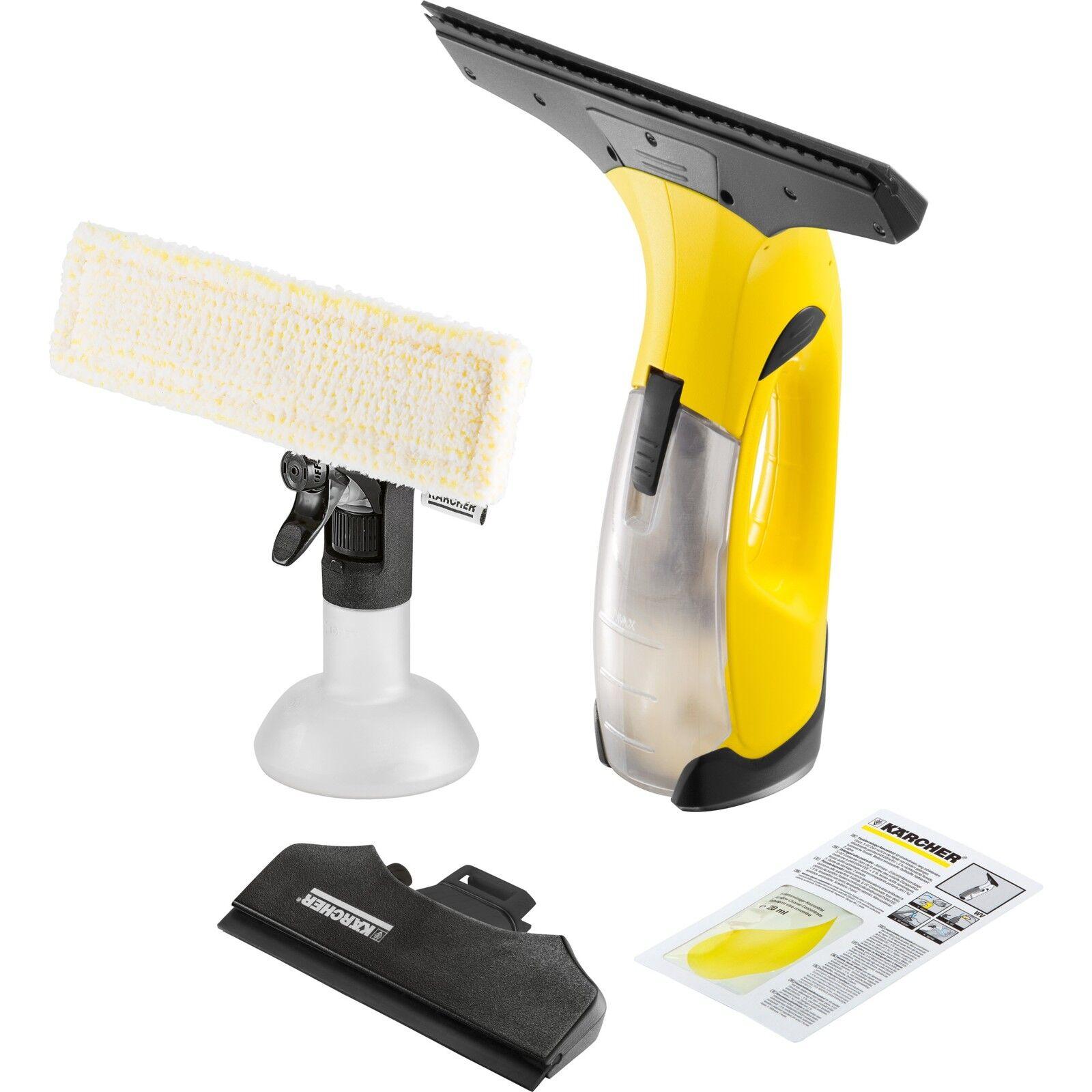 k rcher wv 2 premium fenstersauger gelb ebay. Black Bedroom Furniture Sets. Home Design Ideas