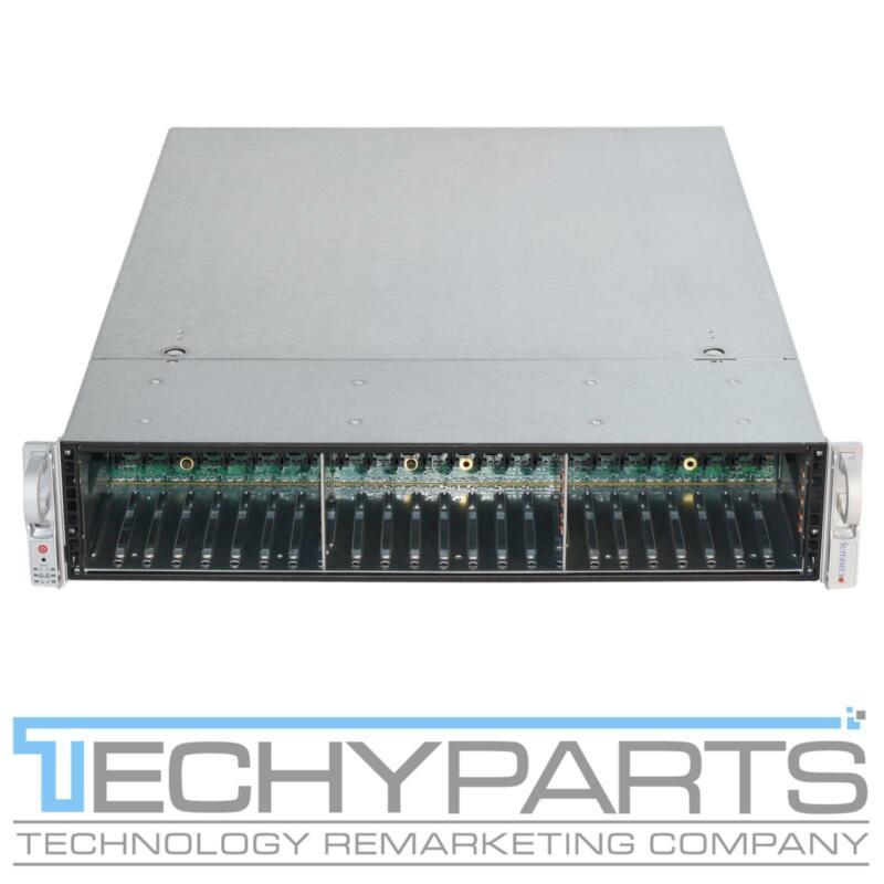 """Supermicro CSE-216E16-R1200LPB 2U Server Chassis 2x1200W BPN-SAS2-216EL1 24x2.5"""""""