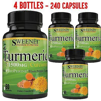 Turmeric Curcumin With Bioperine 1500Mg Premium Potency  95  Standardized No Gmo