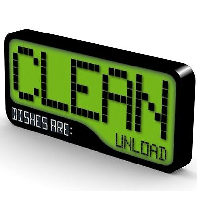 NEW Clean/Dirty Dishwasher Magnet - Reversible Super Strong & Waterproof
