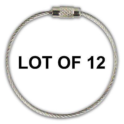 (Stainless Steel Screw Cable Loop Luggage Tag 6