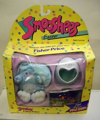 #902 NIB Vintage Fisher Price Smooshees Easter Bunny