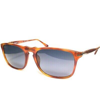 PERSOL 3059 96/S3 Terra di Siena Tortoise Blue Polarized Sunglasses (MSRP (Persol 3059s)