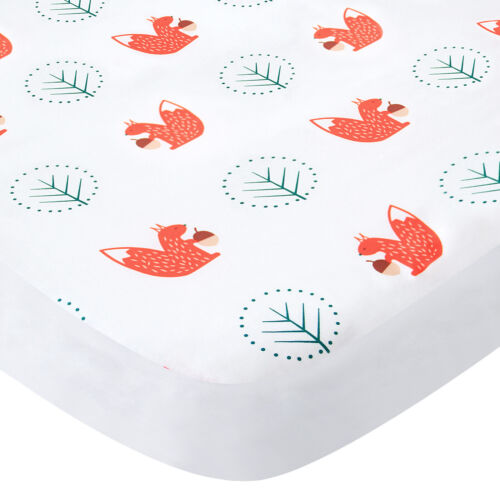 """Pack N Play Sheets Fitted Portable Playard Mini Crib Sheets Squirrel 39""""x27"""""""