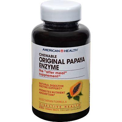 American Health Products - Original Papaya Enzyme, 250 chewable tablets Chewable Original Papaya