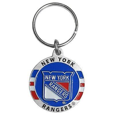 New York Rangers 3-D Metal Key Chain NHL Licensed Hockey (Round)