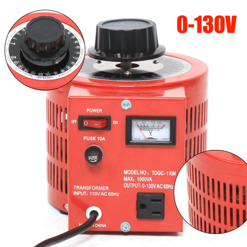 Variac Transformer Variable AC Voltage Regulator 0~130V Over-voltage Protection