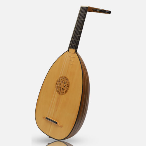 Muzikkon 6 Course Heartland Renaissance Lute Deluxe, Right Handed Walnut
