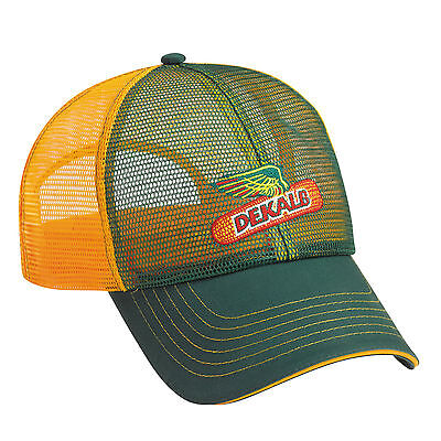 DEKALB SEED *GREEN & YELLOW FULL MESH* Trademark Logo CAP HAT *BRAND NEW* DS01