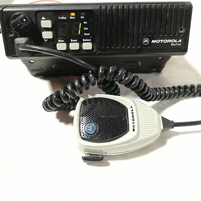 Motorola Maxtrac D34mja7ja5ak Two-way Radio W Palm Microphone Hmn 1056d Mic