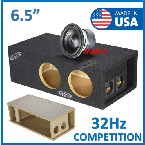 6.5 Dual Ported / Vented Sub Box Subwoofer Enclosure Speaker Box 32Hz